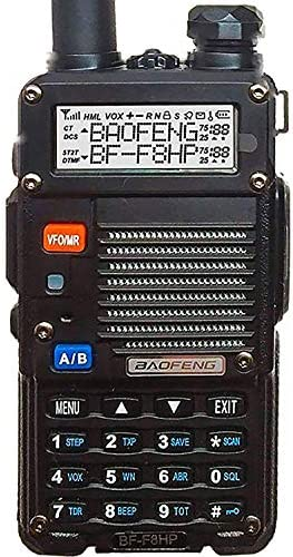 BaoFeng BF-F8HP UV-5R 3rd Gen 8-Watt Dual Band Two-Way Radio 136-174MHz VHF 400-520MHz UHF Includes Full Kit with Large Battery