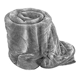 Comfy Nights Soft Fake Faux Fur Mink Throw Sofa Bed Blanket (Large (200x150cm), Silver/Grey)