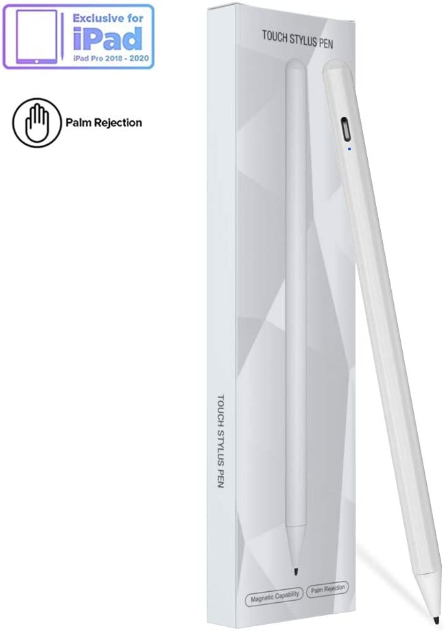 Pencil Stylus for Newest iPad 8th Generation, New Nib Pencil Compatible with (2018-2020) iPad Pro (11/12.9 Inch),iPad 6th/7th Gen,iPad Mini 5th Gen,iPad Air 3rd Gen for Precise Writing/Drawing (White)