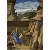 Canvas Prints Of Oil Painting ' Giovanni Bellini Saint Jerome Reading In A Landscape ' , 18 x 25 inch / 46 x 64 cm , Polyster Canvas Is For Gifts And Bath Room, Hallway And Living Room Decoration, buy