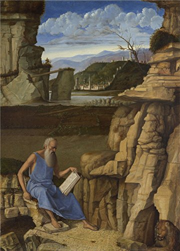 Anne Frank Costume Ideas (Polyster Canvas ,the Vivid Art Decorative Prints On Canvas Of Oil Painting 'Giovanni Bellini Saint Jerome Reading In A Landscape ', 20 X 28 Inch / 51 X 71 Cm Is Best For Foyer Decor And Home Artwork And Gifts)