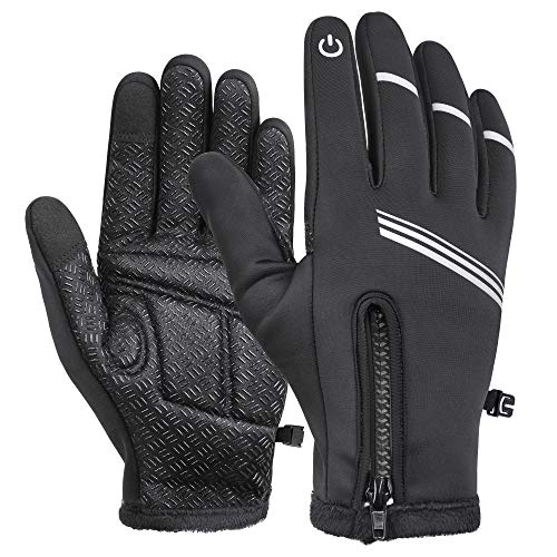 Tomuku Winterhandschuhe Warm Handschuhe Touchscreen Warm Fahrradhandschuhe Skihandschuhe Wasserdicht Winddicht & rutschfest