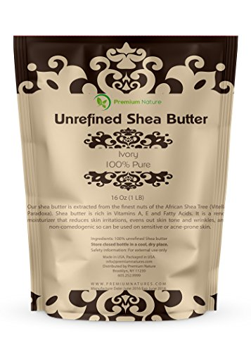 Best Shea Butter (Organic Unrefined African Shea Butter - 16 oz Raw for Body Butters Lotions Lip Balms Strech Mark Removal Eczema Treatment - Best Pure Moisturizer Skin & Hair Care - for DIY Premium Nature )