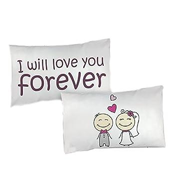 Federe Cuscini Love.Babloo Coppia Di Federe Love Per Cuscini Sposi Will Love You