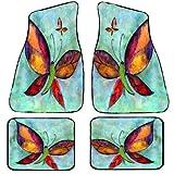 Butterflies Art Auto Car Floor Mat Sets