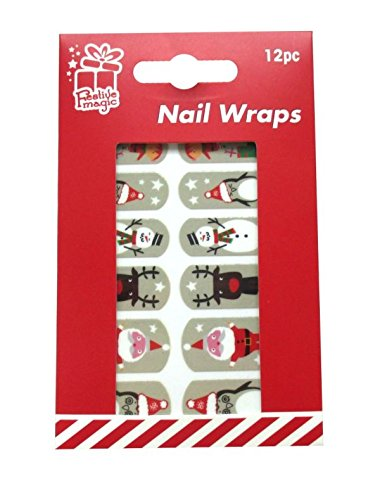 12 x Christmas Nail Wraps - Santa, Reindeer, Snowman, Penguin, Elf unknown