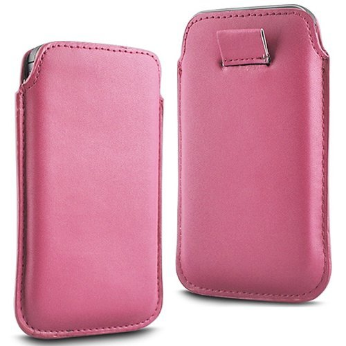 S5230 Tocco Light - N4U Accesoories Twin Value Pack - 2 X Light Pink Superior Pu Soft Leather Pull Flip Tab Case Cover Pouch For Samsung Tocco Lite S5230