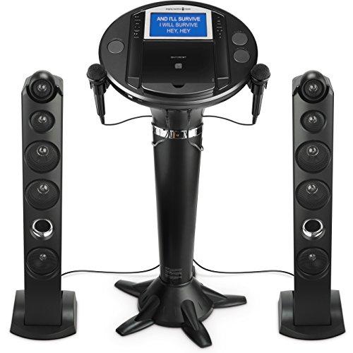 Singing Machine iSM1050BT Bluetooth Karaoke Pedestal (Home Audio Cd Akai)