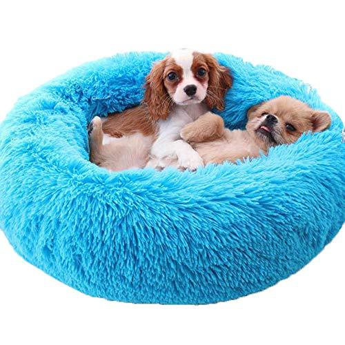- Vesna market Cat Bed Blue Faux Fur Pet Furniture,Dog Bed,Cat Bedding,Cat Dount,Gift for Pet Lover