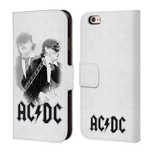 Officiel AC/DC ACDC Rock Ou Buste Solo Étui Coque De Livre En Cuir Pour Apple iPhone 6 / 6s