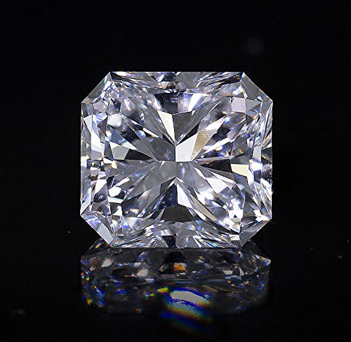 (3ct 8x8mm Radiant Cut stone. Outshines Diamonds and Moissanite,Loose stone)