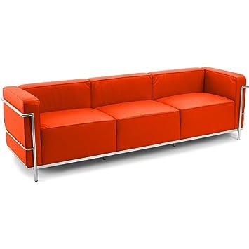 Canapé Design Style LC Charles Le Corbusier Places Simili Cuir - Canape cuir le corbusier