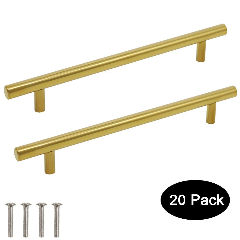 64 mm 224 mm 76 mm Probrico barre de porte boutons de portes en T pour meubles de cuisine 128 mm 256 mm acier inoxydable 9 tailles : 50 mm 192 mm Poignee de Meuble Laiton 160 mm 96 mm