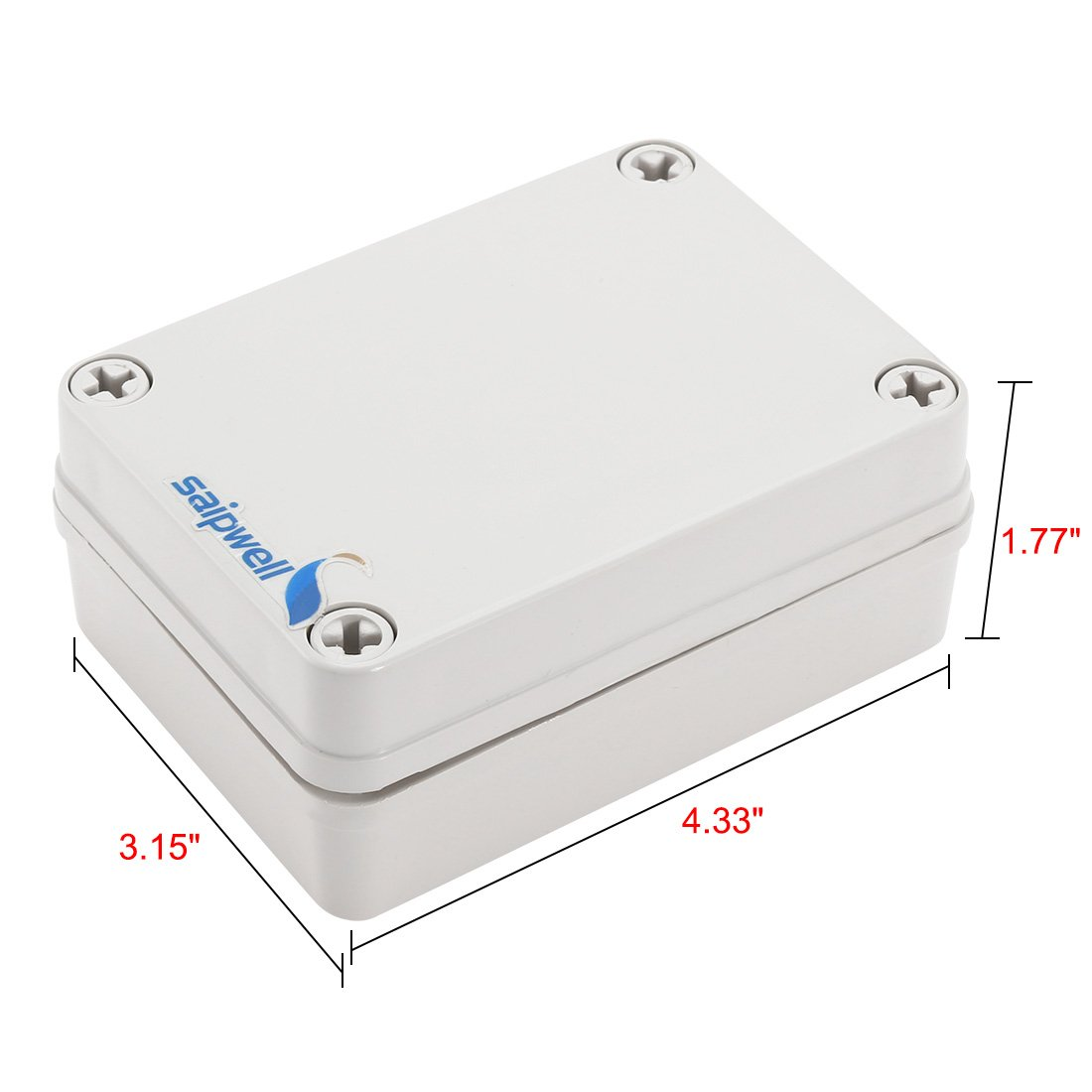 uxcell 4.92 x 6.89 x 3.94 Electronic ABS Plastic DIY Junction Box Enclosure Case Gray a17081400ux0531 125mm x 175mm x 100mm