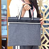 #8: DS-Space Multi-functional Zippered B4 Document Bags with Handle--Meeting/Business Trip Handbag/Briefcase for Macbook,Ipads, Notebooks, Pens, files (grey)