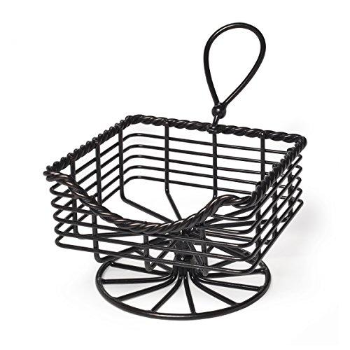 Mikasa Gourmet Basics 5153173 Rope Metal Napkin Basket Antique Black ()