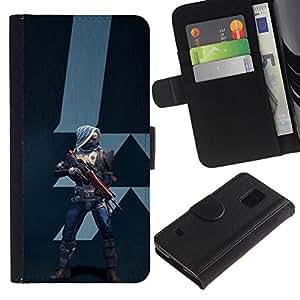 All Phone Most Case / Oferta Especial Cáscara Funda de cuero Monedero Cubierta de proteccion Caso / Wallet Case for Samsung Galaxy S5 V SM-G900 // Future Warrior