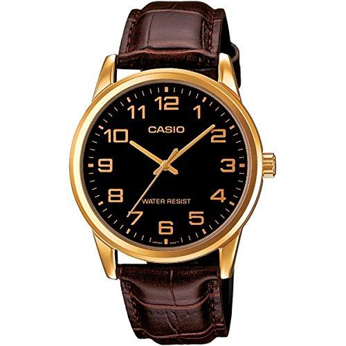 MTP-V001GL-1BUDF Casio Wristwatch (Leather Brown Casio Watch)