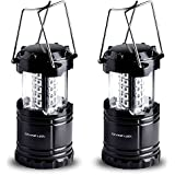 Divine LEDs Bright 2 Pack Portable Outdoor LED Camping...