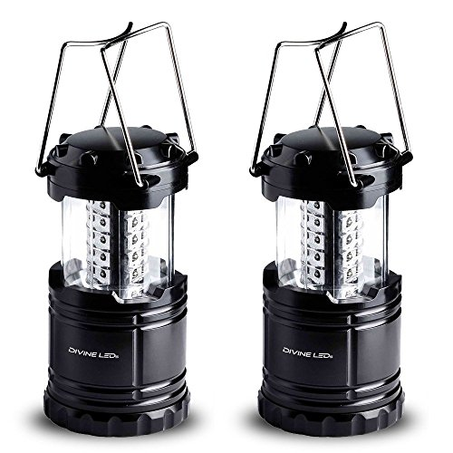 Vont-Bright-2-Pack-Portable-Outdoor-LED-Camping-Lantern-Black-Collapsible