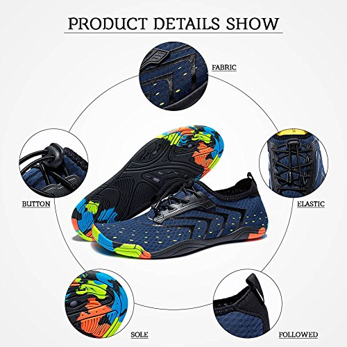Madaleno Surfing Garden Quick Water Dry Shoes Mens Diving Walking Sports Yoga Swim Womens Shoes Beach Boating Blue Aqua for Lightweight Driving OXOwUdxrq
