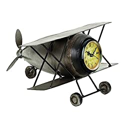 Deco 79 Metal Plane Clock