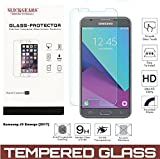 Samsung Galaxy J3 Emerge J3 [2017] Tempered Glass Screen Protector UltraClear 9H Impact Abrasion Resistance