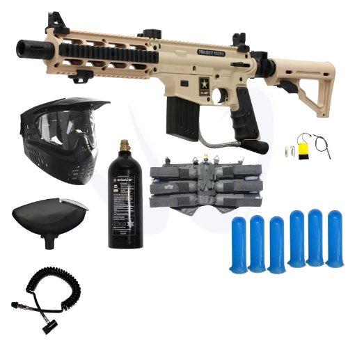 (Tippmann US Army Project Salvo Paintball Gun Power Package - Tan)