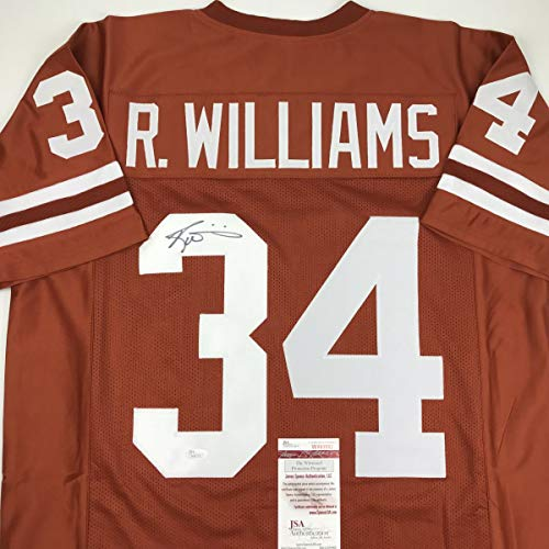 Autographed/Signed Ricky Williams Texas Orange College Football Jersey JSA -