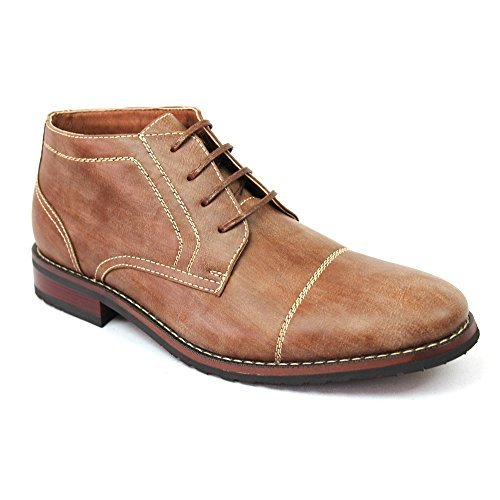 New Men's Cap Toe Ferro Aldo Dress Boots Lace up Modern 806019 (7 U.S (D), COGNAC)