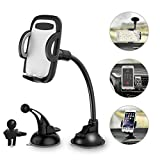 #9: Car Phone Holder 3-in- 1 Car Mount for Windshield, Dashboard, Air Vent – 360° Rotatable Universal Cell Phone Mount for iPhone, Samsung, More – Hands Free Dash Mount Mobile Phone Holder for Car by I&F