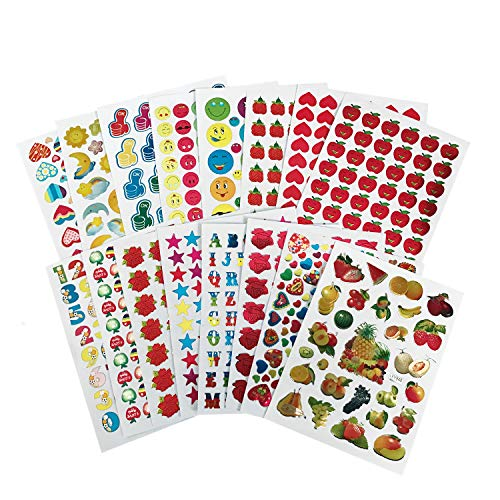 - Teacher Reward Stickers for Kids, 8920 PCS Teacher Stickers for Students Incentive Chart Classroom Teaching Supplies Including Moon,Star,Smiley Face, Apple,Flower,Fruit,Heart,Etc.