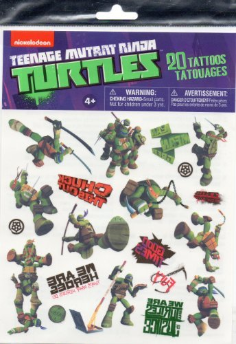 (Teenage Mutant Ninja Turtles 20 Tattoos Party Favors (Leonardo, Michelangelo, Donatello, Raphael))