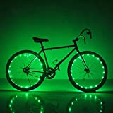 Soondar Super Bright 20-LED Bicycle Bike Rim Lights, Green
