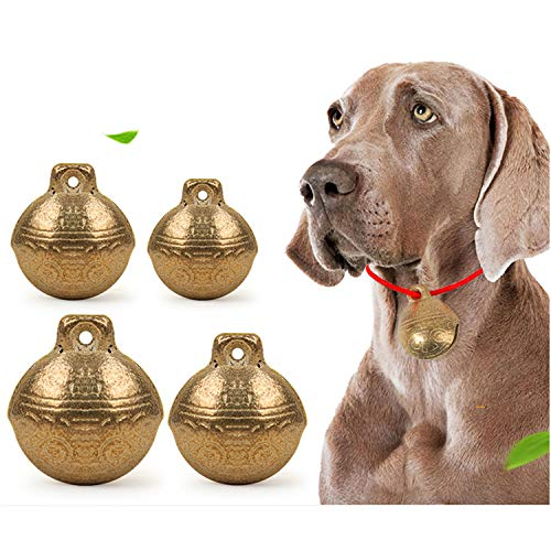 (LIXIN Pet Bell Dog Collar Bells, Vintage Brass Cat Collar Bells ,Pet Anti-Lost Bells -(4 Pack 15 mm/20 mm/25 mm/28 mm)