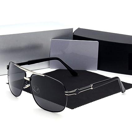 UZZHANG Gafas de Sol polarizadas con Montura Grande para ...