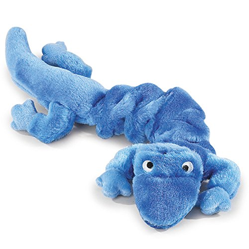 Zanies Bungies Gecko Dog Toys, Blue, 16