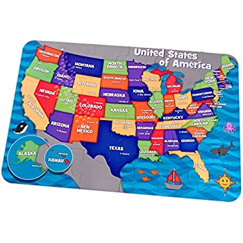 Amazoncom KidKraft Floor Puzzle Map Of The USA Toys Games - Texas map puzzle