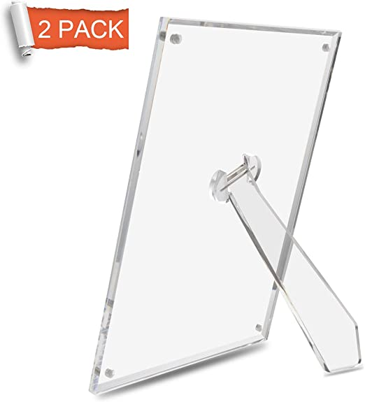 4x6 Clear Acrylic Picture Frame magnet; Magnetic Acrylic Photo Frames 50