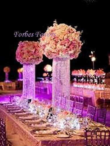 20 glamorous column enchanted chandelier with for Amazon wedding decorations