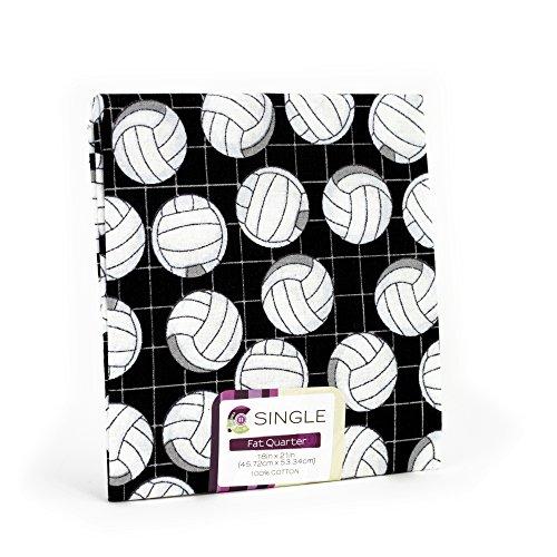Black White Volleyball Fat Quarter