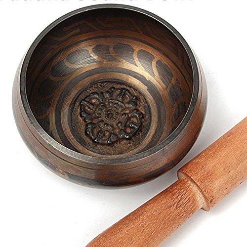 Nynoi Antique Tibetan Singing Bowl Meditation Buddha Sound Bowl Alms Bowl Yoga Chinese (Antique Treasures Bed Poster)