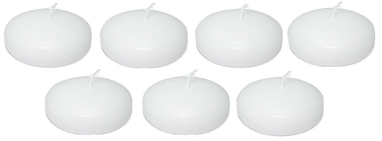 D'light Online Large 3 Inch Bulk Event Pack Floating Candles - Qty 72 (White, Set of 72 Pieces Per Case) by D'light Online