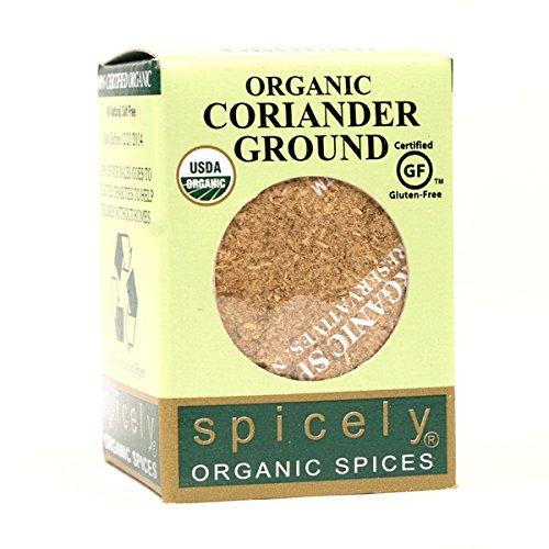 Spicely Organic Coriander Powder 0.45 Ounce ecoBox Certified Gluten Free