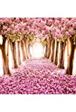 Xuan He 5X7 FT Pink Flowers Photographic Backdrop Romantic Flower Sea Backgroung Wedding and Valentine's Day Photo for Studio Props