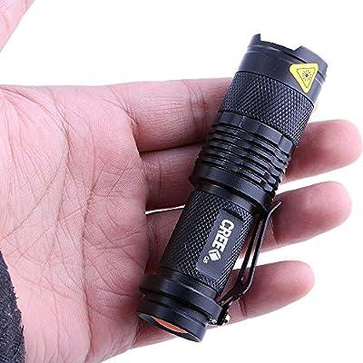 Hatori Mini Led Flashlight Torch Adjustable Focus Light Lamp