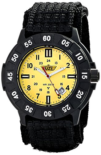 Uzi Men's Uzi-005-N The Protector Tritium H3 Black Nylon Strap Watch