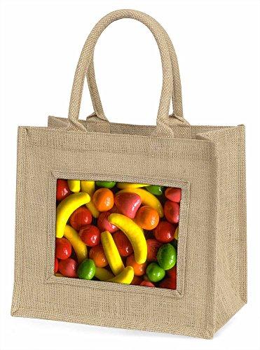 Fruchtbonbons Große natürliche Jute Einkaufstasche Weihnachtsgeschenk