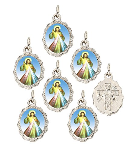 Mercy Medal - Divine Mercy Silver Medal Pendant by Catholica Shop | Lot of 6