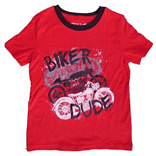 Peanut & Ollie Infant & Toddler Boys Red Biker Dude Motorcycle T-Shirt 18m